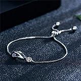 CAVIVI Mode Bracelet Ajustable pour Femmes Zircon Cadeau Bracelet De Brillant Bijoux