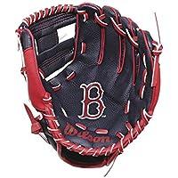 WILSON youth boston red sox baseball glove [black/red]