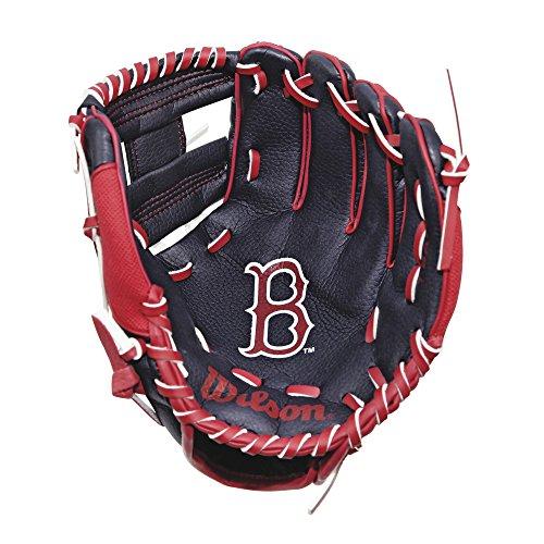 Wilson wta02rb16 Baseballhandschuh MLB T-BALL, Marineblau / Rot (Kids T-ball)