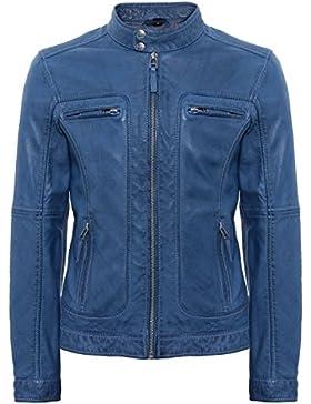 Oakwood Hombres casey biker chaqueta piel Azul