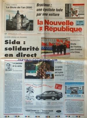 NOUVELLE REPUBLIQUE (LA) [No 15045] du 08/04/1994 ...