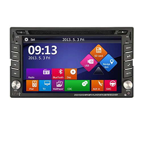 EinCar Multimedia Stereo System CD Car Radio Autoradio GPS Map Antenna Win 8 Audio Video Receiver Car DVD Player MP4 Universal 2 Din Vehicle Accessory FM AM RDS Built in Aux Remote control (In Dash Stereo With Backup Camera)