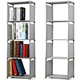 tinkertonk 4 Tier Kids Bookcase Garment Storage Shelves Organizer Children Bedroom Display Shelving Unit (Gray)