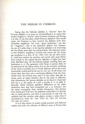 The Mediae in Umbrian.