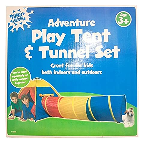 Stalwart X-92385 Adventure Play Tent And Tunnel Set (Pack of 2)