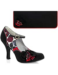 Ruby Shoo Ashley assorti Chaussures et Londres Sac Occasion/Moutarde/Vin/Bleu Sarcelle