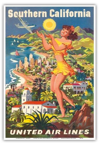 united-air-lines-californie-du-sud-vintage-airline-travel-poster-by-joseph-feher-c1950-reproduction-