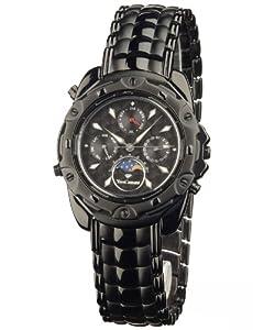 Yves Camani Platon Black 556-G-B-B - Reloj de caballero de cuarzo, correa de acero inoxidable color negro de Yves Camani