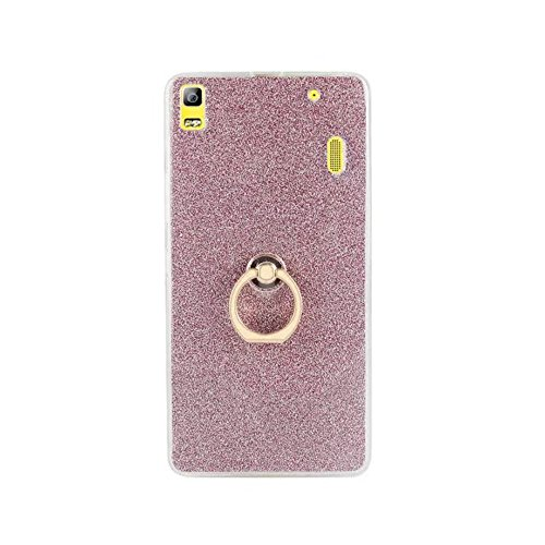 EKINHUI Case Cover Soft Flexible TPU Back Cover Case Shockproof Schutzhülle mit Bling Glitter Sparkles und Kickstand für Lenovo K3 Hinweis ( Color : Black ) Pink
