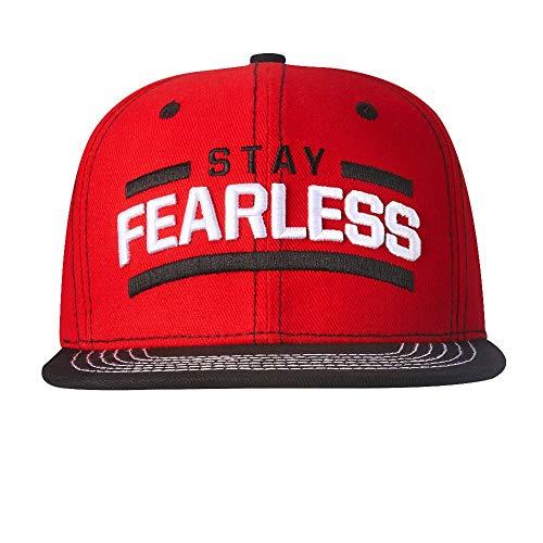 Fearless Schwarz Krempe Snapback Baseballmütze Cap ()