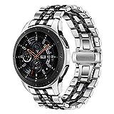 TRUMiRR Galaxy Watch 46mm/Gear S3 Bande de Montre, 22mm Bracelet en Acier Inoxydable Bracelet à Boucle Papillon avec...