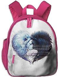 83f65c38721d1 Sport e tempo libero Zainetti per bambini Funny Schoolbag Backpack White  And Black Lions Toddler Kids ...