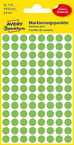 Avery Zweckform 3179 etichetta autoadesiva Verde Rotondo Permanente 416 pezzo(i)