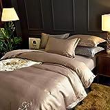 Piumino king size, biancheria da letto nuda in seta color ghiaccio puro, lenzuolo con angoli in cotone spazzolato, copripiumino singolo, set biancheria da letto king size@Boolean_1.5m (5 piedi) letto