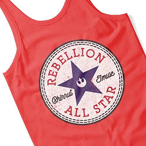 Star Wars Rogue One Rebellion Chirrut Converse Logo Men's Vest Red