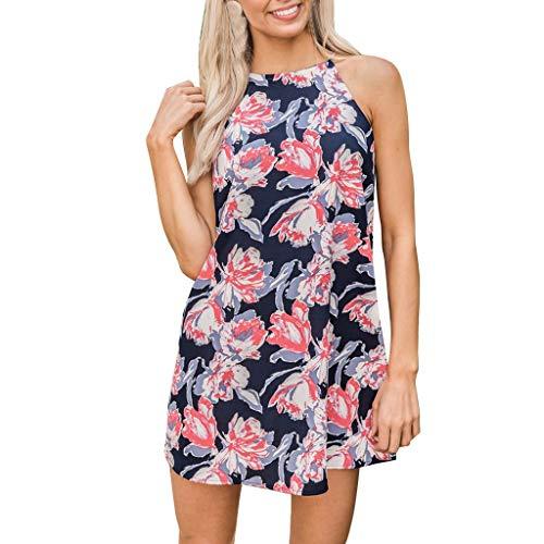 Baumwolle V-neck Wrap (GOKOMO Ladies Beach Dress, Leopard Print V-Neck Bow Tie Irregular Swallowtail Chiffon Dress(rot,Large))