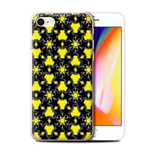 Stuff4 Hülle / Case für Apple iPhone 8 / Pack 8pcs / Zerstreute Sterne Kollektion Gelbes Muster