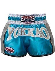 """'yokkao Carbon Muay Thai Pantalones Cortos """"Storm, fabricado a mano en Tailandia"""