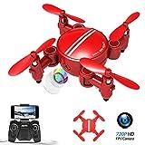 Rolytoy VraiJouet Mini Drone Pliable, APP Control WiFi FPV avec Caméra HD 720P, Quadricoptère RTF avec Drone de Poche RC, Mode...