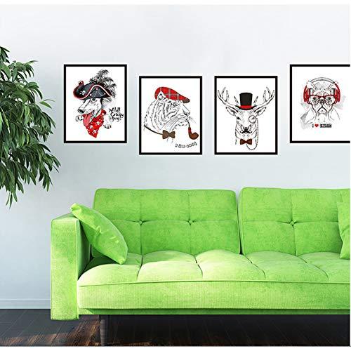 SJXWOL Wandaufkleber Zitat Tier Avatar Wandaufkleber Cartoon Nette Kinderzimmer Dekorationen Bilderrahmen Selbstklebende Tapete Aufkleber 130 * 37 cm