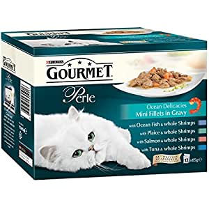 Gourmet Perle Ocean Delicacies in Gravy, 12 x 85 g - Pack of 4
