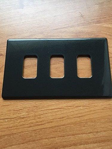 MK k24333Cha Grid Plus 3Modul Modular Frontplatte mit Einbaurahmen–Anthrazit