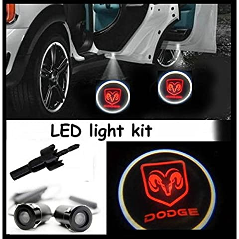 einstieg iluminación (Puerta), luz LED CREE R3Light Kit Dodge Ram Logo (par)