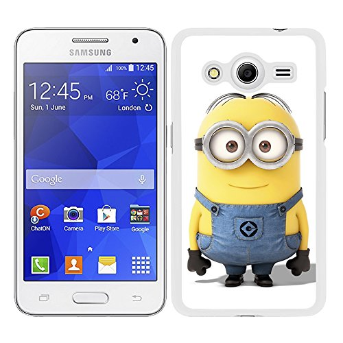 Funda carcasa para Samsung Galaxy Core 2 dibujo minion borde blanco