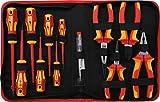 BGS technic 7140 - Set di pinze e cacciaviti VDE, 12 pezzi