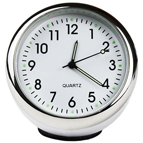 Preisvergleich Produktbild Txian, präzise Auto-Uhr, rund, klein, mit Quarzuhrwerk, perfekte Auto-Dekoration