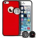 Qdos Custom Buttons Coque en polycarbonate pour iPhone 5 Love Cars Rouge