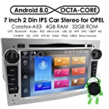 Android 8.0 Car DVD Player Double DIN Car Audio Stereo Support WiFi GPS Bluetooth USB Camera for Opel Vauxhall Corsa Vectra Astra …