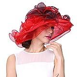 June's Young Damen-Hüte Organzahut Sommer Hut Sonnenhut eleganter Hut mit