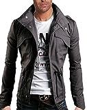 WSLCN Homme Coton Blouson de Chasse de Haut Qualité Gris FR M (Asie XL)