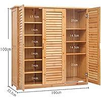 Preisvergleich für Schuhregal DELLT Einfacher Schuhschrank Bambusschuhrahmen Massivholz Einfacher Schuhaufbewahrung Wohnzimmer Mehrgeschossiges, multifunktionales Eingangstürschrank (größe : 3/6 Floors)