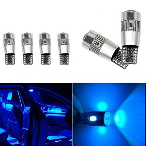 Ralbay 6 x T10 Canbus Auto 194 168 W5w 6 SMD 5630 LED Standlicht Lampe Birne Licht Blau 12V Auto Innenbeleuchtung KFZ Rücklicht Türleuchte canbus (Auto Blaue Led-innenbeleuchtung)