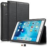 KAVAJ iPad Mini 4 Hülle Echtleder Case Berlin für Das Apple iPad Mini 4 Schwarz aus echtem Leder mit Stand und Auto Schlaf/Aufwachenen Funktion. Dünnes Smart-Cover Schutzhülle Tasche Lederhülle