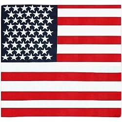 SODIAL(R) Panuelo Banda de Pelo Diseno de Barras y Estrellas Bandena EE.UU. 100% Tejido de Calidad