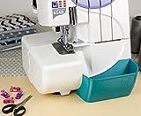 Nähwelt Flach Auffangbehälter für Overlock W6 Wertarbeit N 454D | Privileg N444 | Janome 9200D Verschiedene Farben (Petrol)