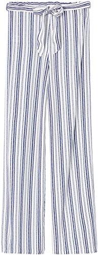 FIND Damen Hose mit Streifen und Gürtel Blau (Blue/White)