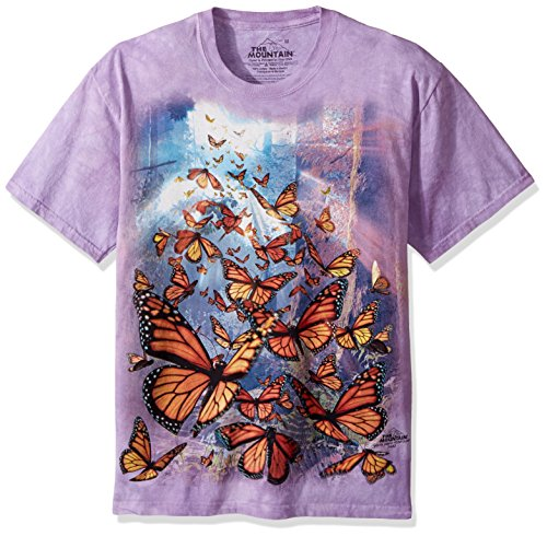 The Mountain T-Shirt Monarch Butterflies Lila | 5XL