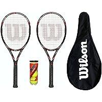 2 x Wilson Surge 100 Raquetas De Tenis + Funda De Transporte + 3 Pelotas Tenis PVP 150