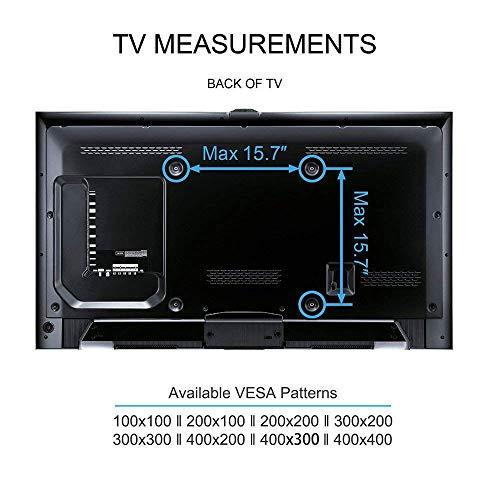51H6EAInkvL - FITUEYES Soporte Giratorio de Suelo para TV de 27-55 Pulgadas Altura Ajustable Soporte de Televisión LCD LED OLED Plasma Plano Curvo TT106001MB