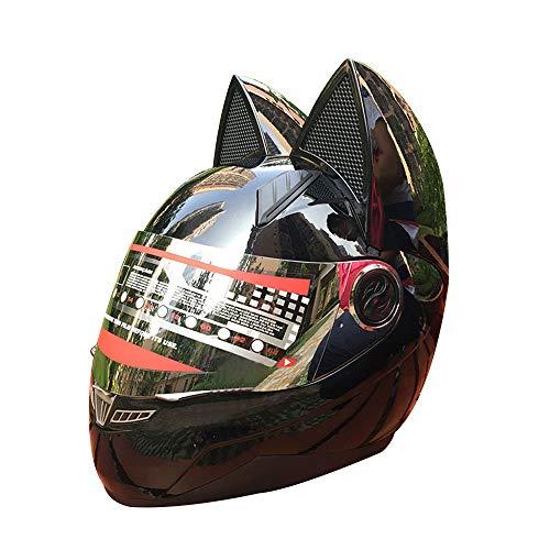 Sunzy Casco Moto Mujer Cuatro Estaciones Personalidad