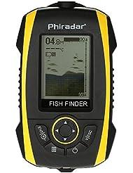 Docooler Fish LCD portátil Buscador de pantalla sonar transductor del sensor Sonda de pescado Indicador de alarma de profundidad buscador de la pesca