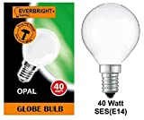 10 x G45 Golf Ball 40 Watt SES/E14 Small Edison Screw in Opal (White/Soft) Finish Double Life: 2,000 Hours