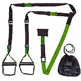 Schlingentrainer »Alexandros« / Sling - Suspension - Training / Rutschfeste Griffe inkl. Türanker, Karabinerbefestigung und Transportbeutel / grün