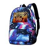 Rogerds Schultasche Freizeittasche, Gojira School Hiking Travel Rucksack Camping Starry Sky Daypack...