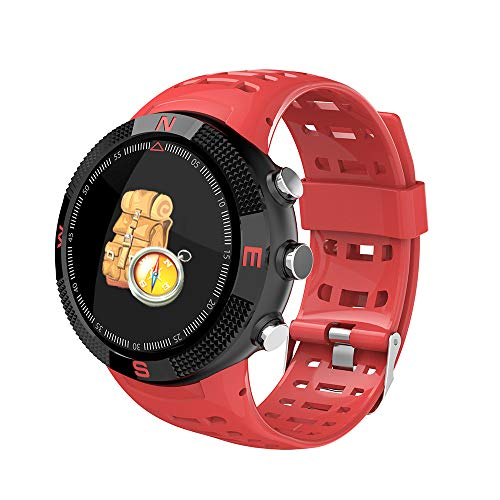 HKPLDE Bluetooth Smartwatch/Fitness Armband Aktivitätstracker Farbbildschirm Schrittzähler Sportuhr Anruf Männer für iOS Android-Rot -