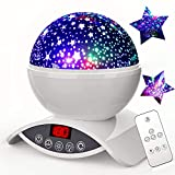 Night Light Projector, Elecstars 8 Colours Dimmable Combinations Romantic Starry Sky Lamp, Timer Auto-Off, CM© toys for Nursery Decor, Gifts for Kids (White)